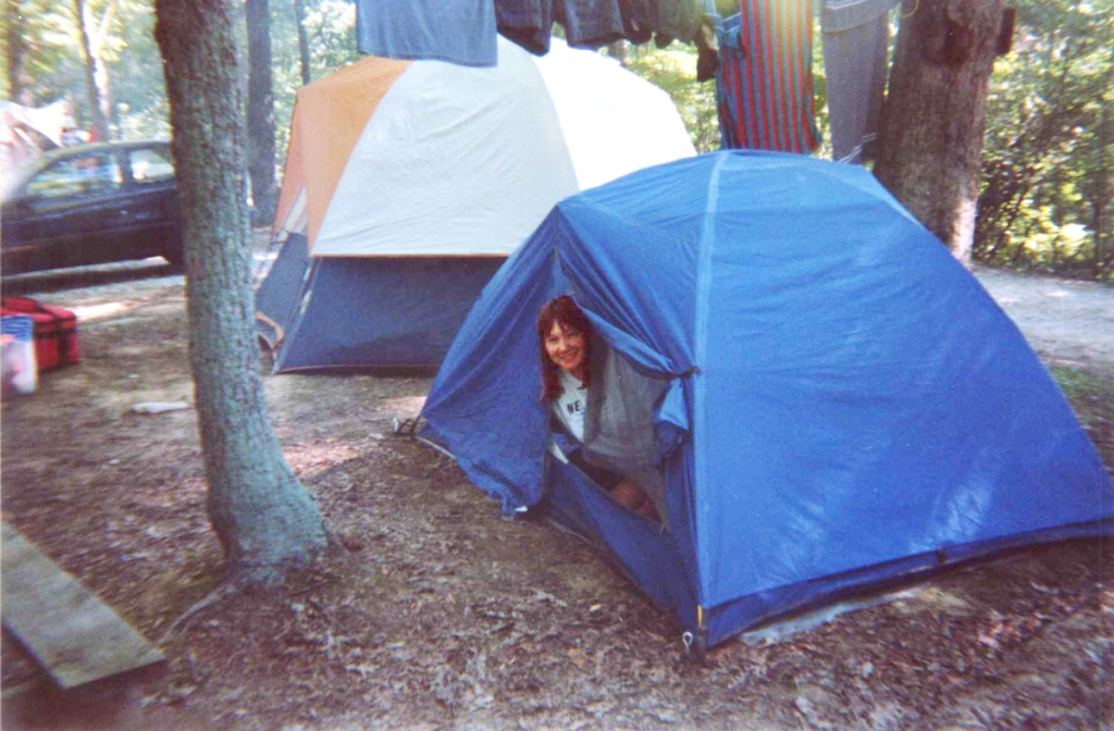 Camping with Nikki.