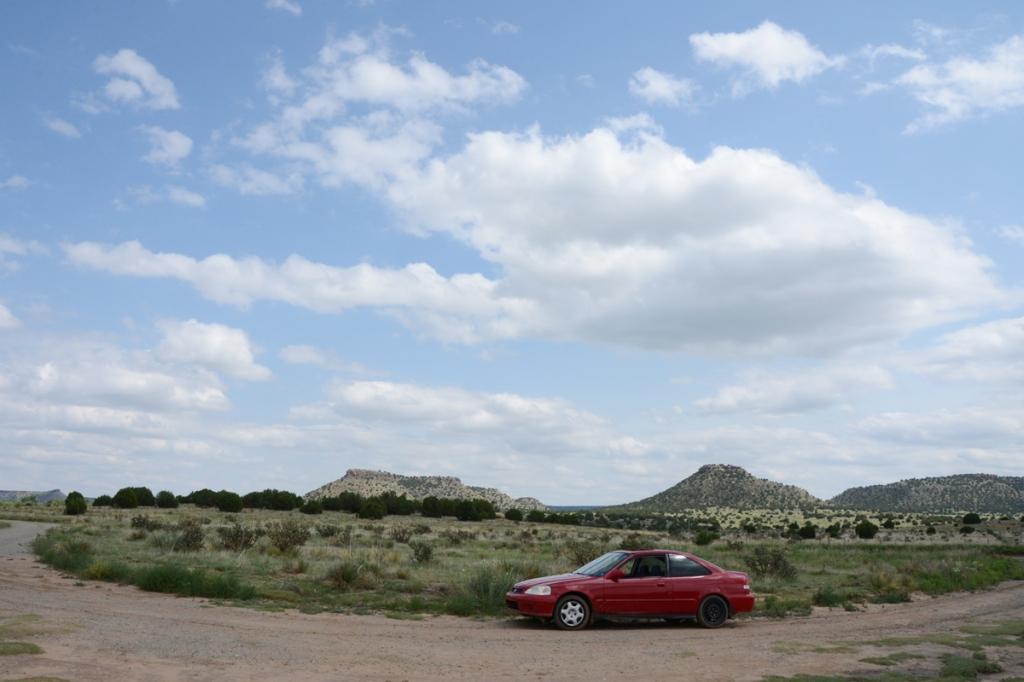 The Honda, at Prestone Monument (Tri Corner of Colorado, New Mexico, Oklahoma, July 30, 2018. Nikon D600 photo by Dave O.