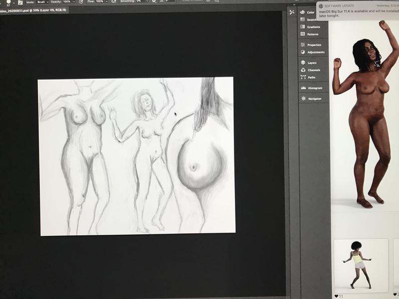 Screen shot of May 26, 2021 drawing session.